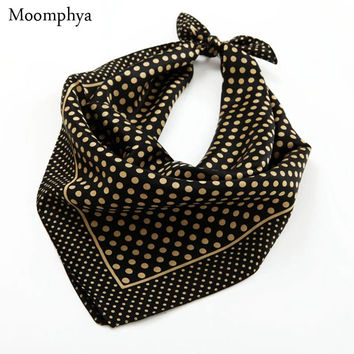 Spring Men's Fashion street style Trends print Dots black monochrome patterned silk neckerchiefs