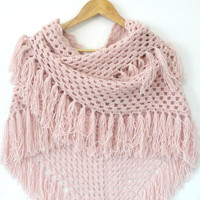 hand crocheted shawl,pink shawl,neckwarmer,women fashion,soft,warm,shawl trends,crocheted trends