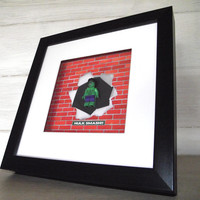 Hulk minifigure framE picture from ARTYLICIOUS | Made By Artylicious | £29.99 | BOUF