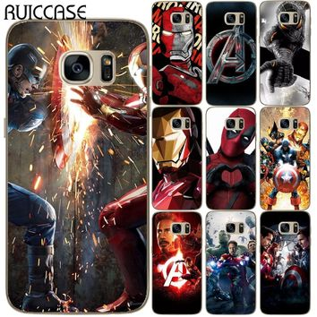 Spider Iron Man Joker Deadpool Soft TPU Silicone Case For Coque Samsung Galaxy S5 Mini S6 S7 Edge S8 S9 Plus Avengers Cover