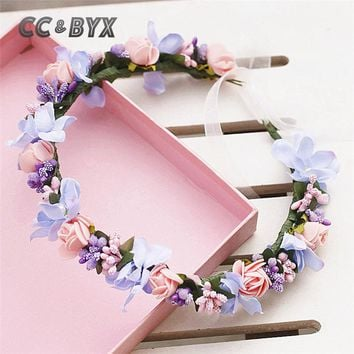 CC Jewelry Crown Headbands Tiara Hair Ornaments Hairbands Flower Crown Handmade For Women Wedding Party Beach Accessories 6393