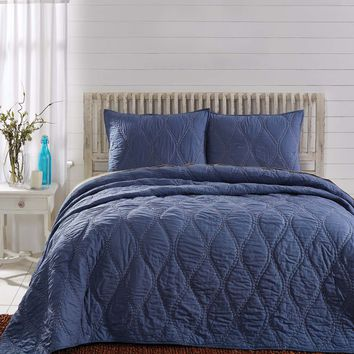 Harbour Blue Twin Quilt