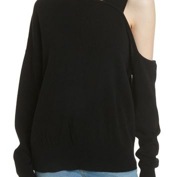 Elizabeth and James Hearst Cold Shoulder Merino Wool & Cashmere Sweater | Nordstrom