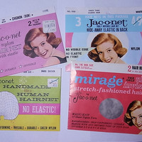 Lot 4 Vintage Jac-O-Net Hair Nets 1950s - 1960s New Old Stock