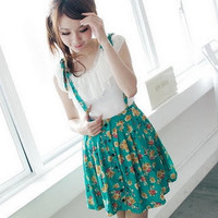 YESSTYLE: BAIMM- Floral Jumper Dress (Green - One Size) - Free International Shipping on orders over $150