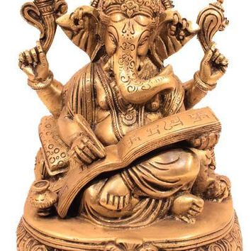 Beautiful Solid Brass Ganesh Statue