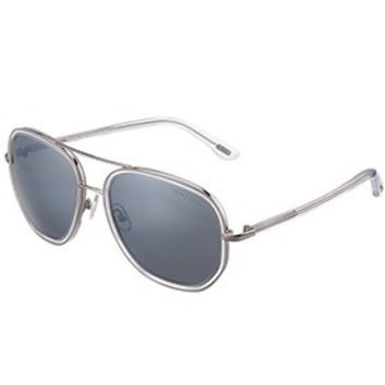 Tom Ford Cyrille Aviator White Frame Sunglasses 307900