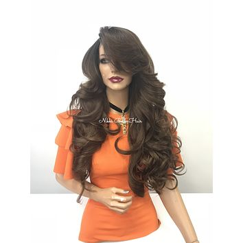 Brown Ombre full wig - Powerful