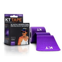 "KT TAPE Original Cotton Elastic Kinesiology Theraeputic Tape - 20 Pre-Cut 10"" Strips,, Purple"