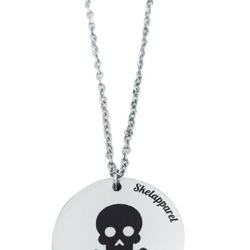 Skelapparel Skull Coin Pendant Necklace
