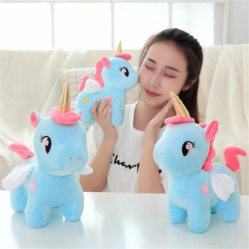 1pc Kawaii Animal Plush Toy Soft Unicorn Dolls Infant Appease Sleeping Pillow Kids Room Decor Toys Children Baby Christmas Gifts