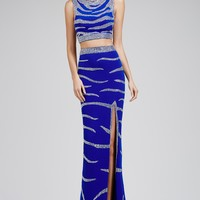 Tiger Stripped Two-Piece 28807 - Prom Dresses