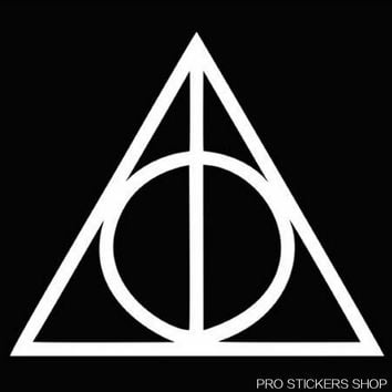 Deathly Hallows Harry Potter Personality Car Stickers Car Body Car Styling Removable Stickers