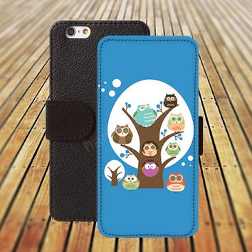iphone 5 5s case dream owl tree cartoon iphone 4/ 4s iPhone 6 6 Plus iphone 5C Wallet Case , iPhone 5 Case, Cover, Cases colorful pattern L101
