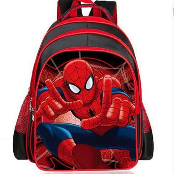 children spiderman school bags 2016 Shoulders The Burden Of The Children Kids School Boys Girls Kids Backpack Satchel