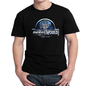 Minions World Mens T-shirt Black and White