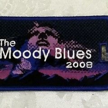 The Moody Blues 2008 Spring Tour Rare and Collectible Embroidered Luggage Tag