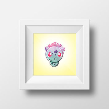 Bulbasaur / Pokemon / Digital Art Print / Instant Download