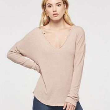 Project Social T Anouk Drop Sleeve T | Mesa Sand