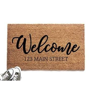 Personalized Welcome Doormat with Address