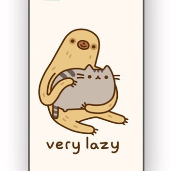 Pusheen cat and sloth for iPhone 4/4S Case **