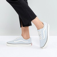 Vans Old Skool Sneakers In Blue Fuzzy Suede at asos.com