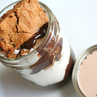 SMORE's Bar Cookie Jar with Chocolate Ganache & Marshmallow Buttercreme Frosting 24 pack