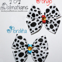 101 Dalmatians Hair Bow - Pongo OR Perdita
