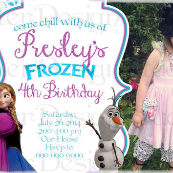 Frozen Winter Birthday Invitation - Printable Digital file