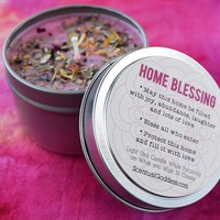 HOME BLESSING Intention Candle - Bless Your Home For Love Friendship Health Joy & Prosperity