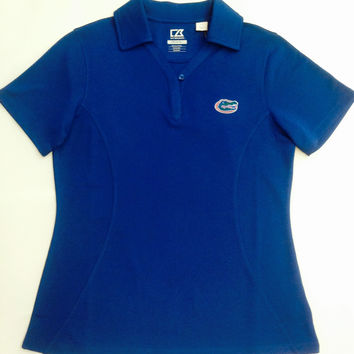 NCAA Florida Gators Cutter & Buck Ladies DRYTEC Polo