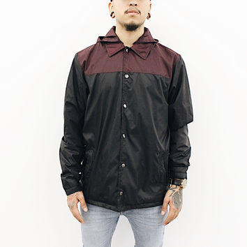 Gerry Windbreaker Jacket (Black/Burgundy)