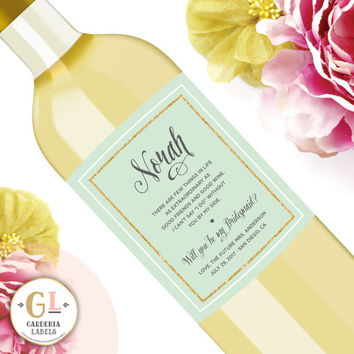 Bridesmaid Wine Label, Personalized Bridesmaid Gifts, Will you be my Bridesmaid Champagne, Bridesmaid Proposal Idea, Maid of Honor Ask