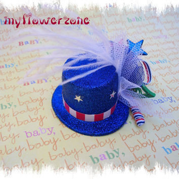 Patriotic Top Hat Uncle Sam Top Hat Baby Top by MyFlowerZone