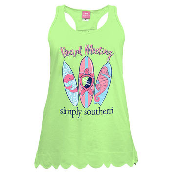 Simply Southern Preppy Surf Boards Tank Top