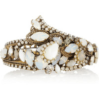 Erickson Beamon | Whiter Shade Of Pale Swarovski crystal gold-plated cuff | NET-A-PORTER.COM