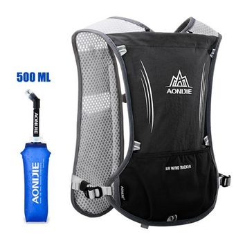 Running Vests Jogging AONIJIE Men Women Running Backpack Outdoor Sports Trail Racing Marathon Hiking Fitness Bag Hydration Vest Pack 500ml Kettle KO_11_1