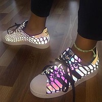 adidas women reflective chameleon casual running sneakers sport shoes