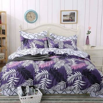 Family Bed Linens 100%Cotton High Quality Simple Style Bedding Set 1 or 2 Person Duvet Cover Modern Style Linens