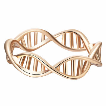 1pcs Beautiful Molecule Ring Shape DNA Ring Chemistry Elements Ring Science Ring For Women Female Gift Fashion Original Jewelry