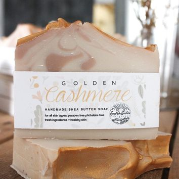 Golden Cashmere Handcrafted Soap Bar