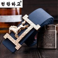 designer leather belts fashion letters buckle men belt Leisure strap
