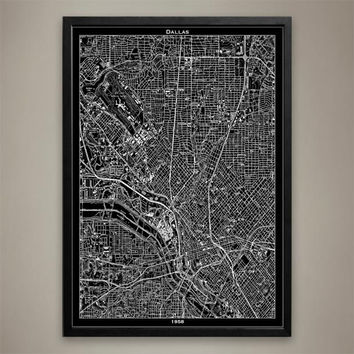 Map Print, DALLAS