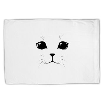 Cute Cat Face Standard Size Polyester Pillow Case by TooLoud