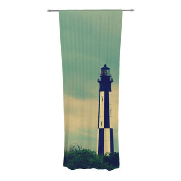 "Robin Dickinson ""New Cape Henry"" Lighthouse Decorative Sheer Curtains"