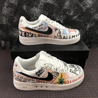 VLONE x Nike Air Force 1 Low '07 AF1 Customs Grafitti Fashion Shoes - Best Online Sale