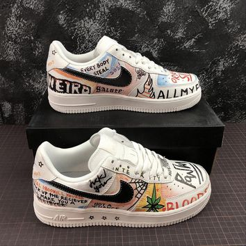 734e4d5d131a VLONE x Nike Air Force 1 Low  07 AF1 Customs Grafitti Fashion Sh