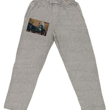 Sidecar Motorcycle Photo Adult Loose Fit Lounge Pants