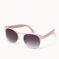 F1886 Half-Frame Cat-Eye Sunglasses