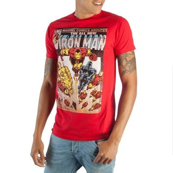 Iron Man Comic Book Cover Artwork Tee